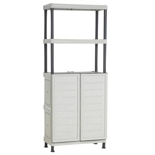 Mobiliario para exterior almacenaje maurer armario resina for Armario herramientas jardin