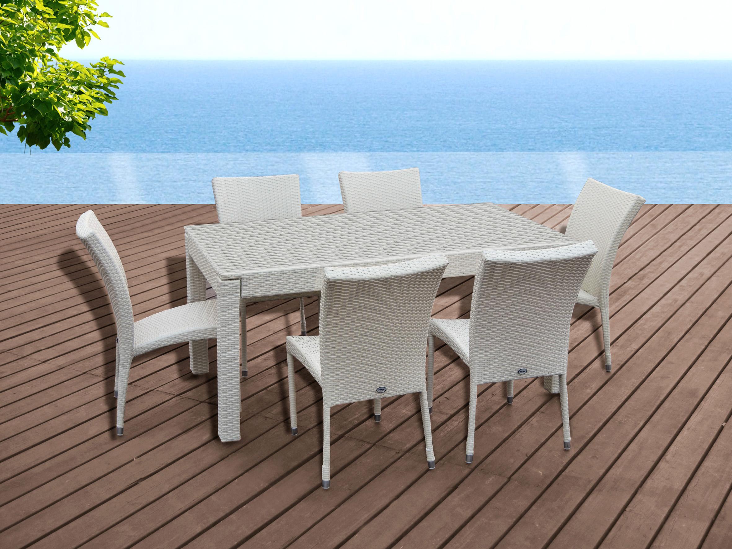 mobiliario para exterior mesas y sillas generico conjunto