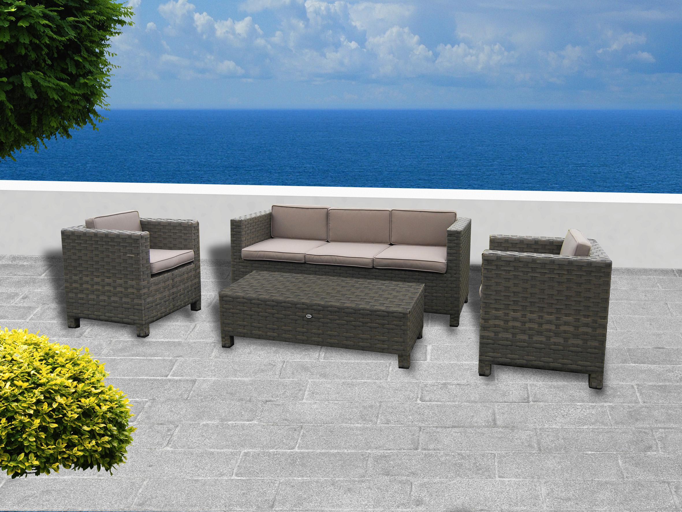 Mobiliario para exterior mesas y sillas generico conjunto de jard n color natural palmarola - Mobiliario jardin online ...