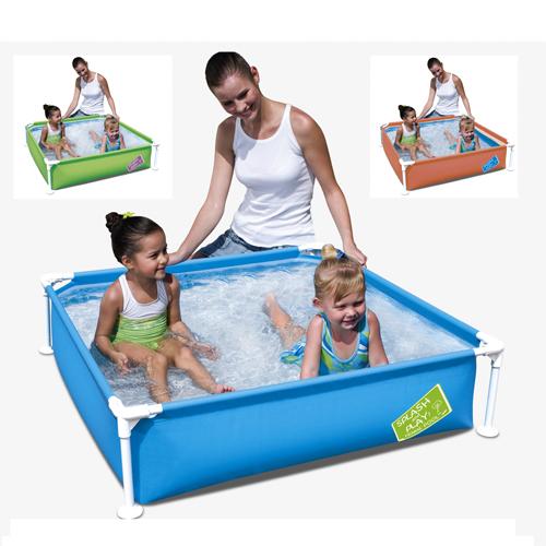 Piscinas infantiles generico piscina infantil cuadrada for Piscina infantil