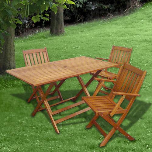 Mobiliario para exterior mesas y sillas papillon conjunto for Conjunto mesa y sillas exterior