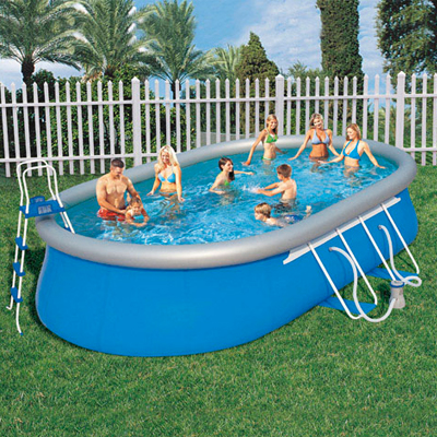 Piscinas fast set papillon piscina oval con hidrobomba for Piscinas desmontables pvc ofertas