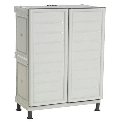 Mobiliario para exterior almacenaje maurer armario resina for Armario plastico exterior carrefour