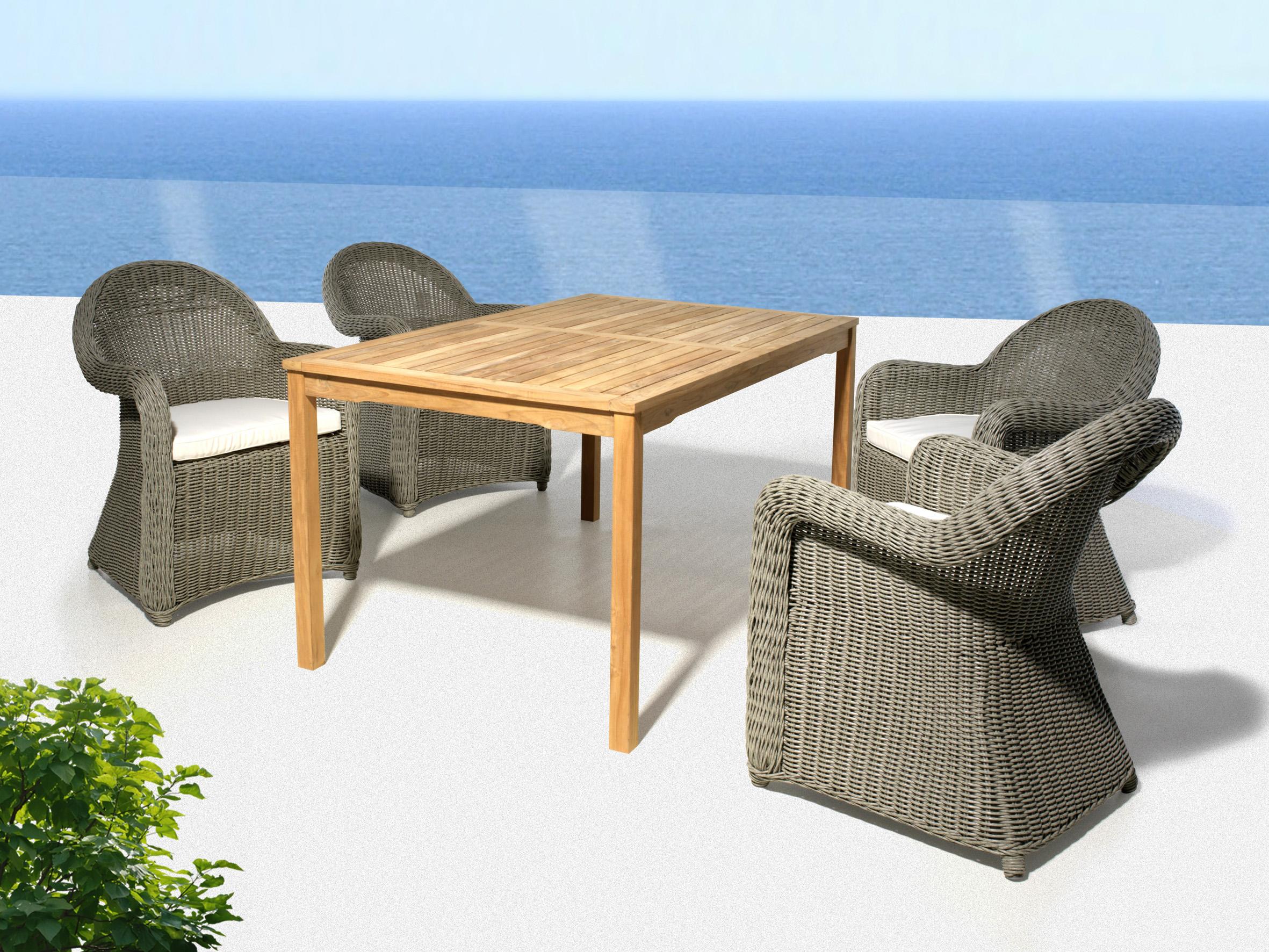 Mobiliario para exterior mesas y sillas saturnia conjunto for Rebajas mobiliario jardin