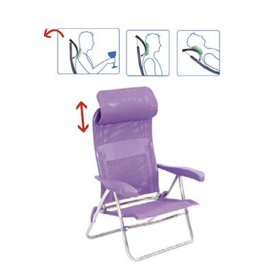 Playa sillas crespo silla playa aluminio con cabezal for Sillas de aluminio
