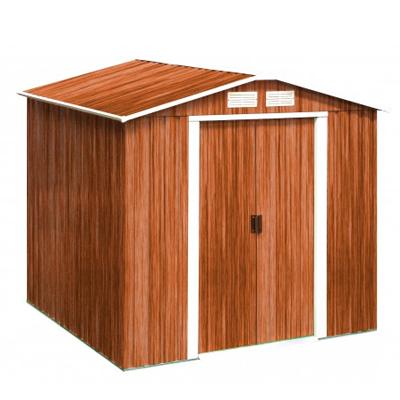 Casetas met licas duramax caseta de metal imitaci n madera for Casetas metalicas a medida