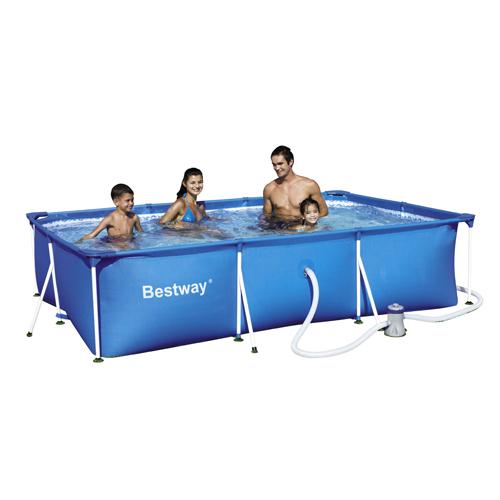 Piscinas estructura met lica bestway piscina rectangular for Piscina metalica