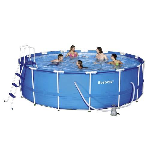 Piscinas estructura met lica bestway piscina redonda for Piscina bestway redonda
