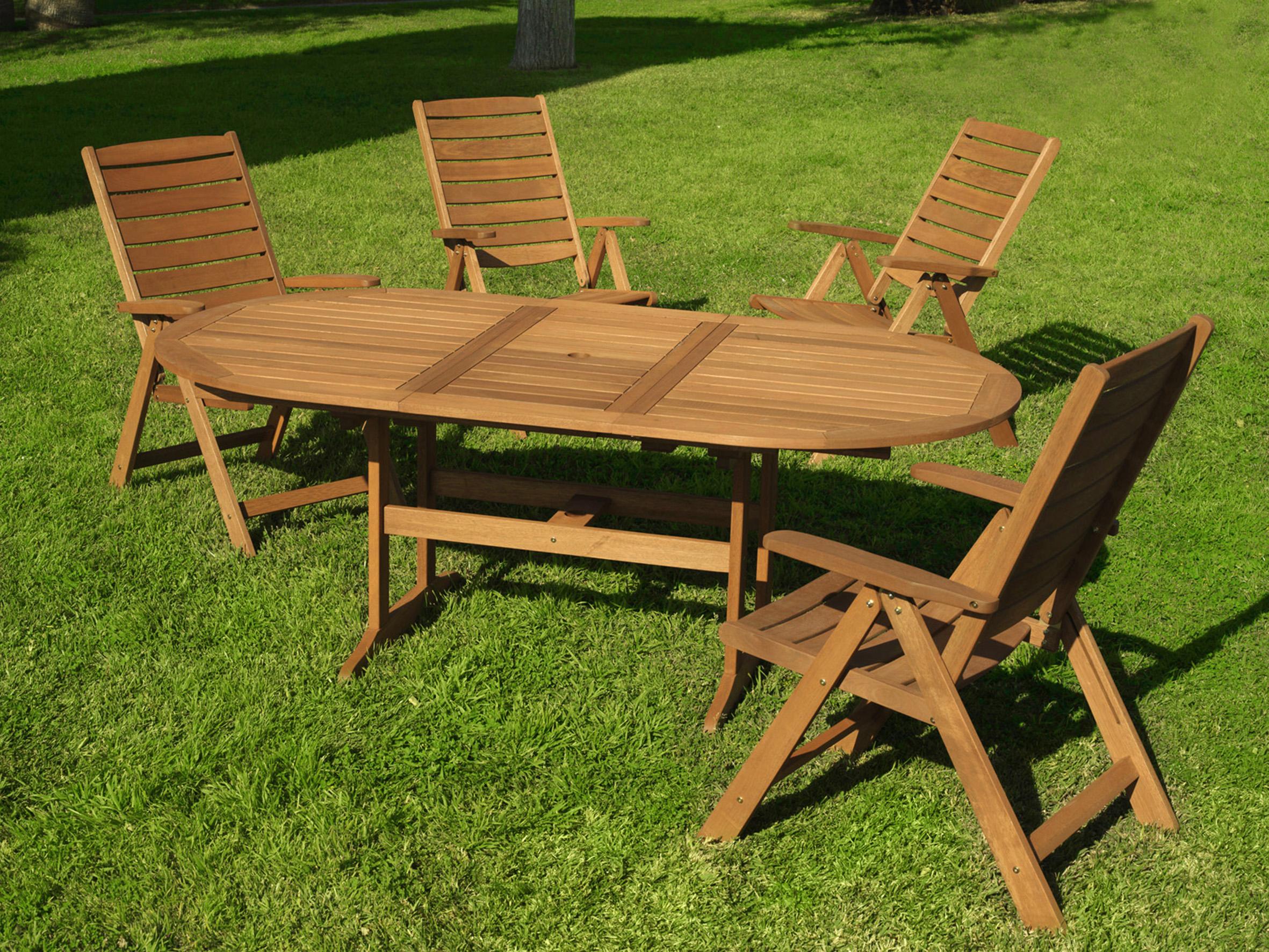 Mobiliario para exterior mesas y sillas generico conjunto for Conjunto mesa y sillas exterior