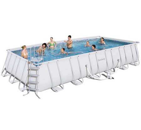 Piscinas estructura met lica generico piscina rectangular for Piscina metalica
