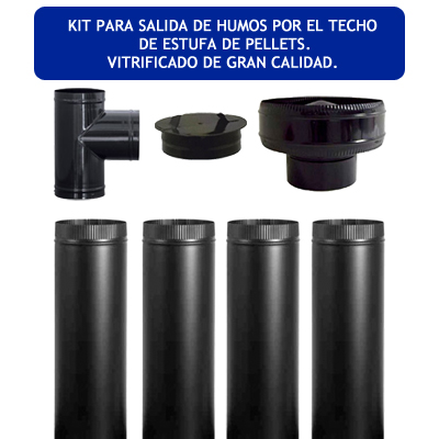 Climatizaci n estufa de pellets generico kit vitrificado for Normativa salida de humos estufa de pellets