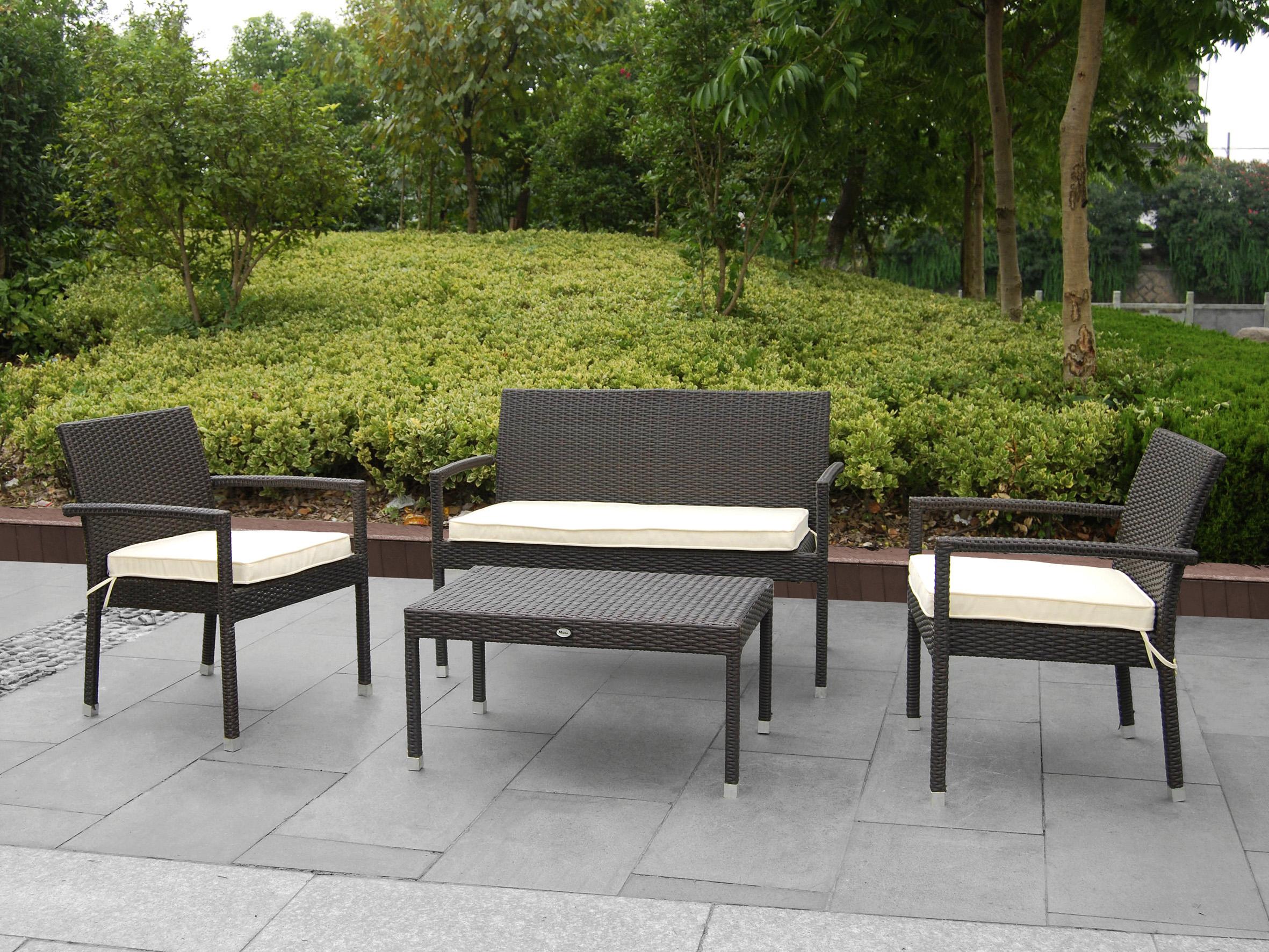 Mobiliario para exterior mesas y sillas generico conjunto de jard n color marr n linosa marr n - Mobiliario jardin online ...