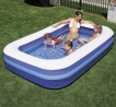 Piscina rectangular inflable grande 305x183x56 cm.